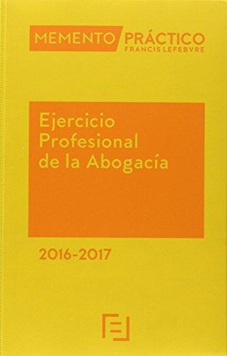 Memento Ejercicio Profesional de la Abogacía 2016-2017