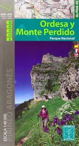 Parque Nacional de Ordesa y Monte Perdido. Escala 1:40.000. 2 mapas. Castellano