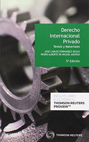 Derecho Internacional Privado (5ª ed) Textos y Materiales